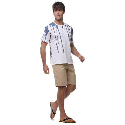 Men\s 3D ink design short-sleeved CottonT-shirtMens Shorts<br>Men\s 3D ink design short-sleeved CottonT-shirt<br><br>Collar: Round Neck<br>Material: Cotton<br>Package Contents: T-shirt<br>Pattern Type: Print<br>Sleeve Length: Short<br>Style: Fashion<br>Weight: 0.1700kg