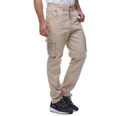 Men's 100% cotton multi-pocket overalls