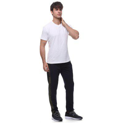 Men\s technology side hit color decorative casual trousersMens Pants<br>Men\s technology side hit color decorative casual trousers<br><br>Fit Type: Loose<br>Front Style: Flat<br>Material: Polyester<br>Package Contents: 1 * pants<br>Pant Length: Long Pants<br>Pant Style: Pencil Pants<br>Style: Active<br>Waist Type: Mid<br>Weight: 0.5200kg<br>With Belt: No
