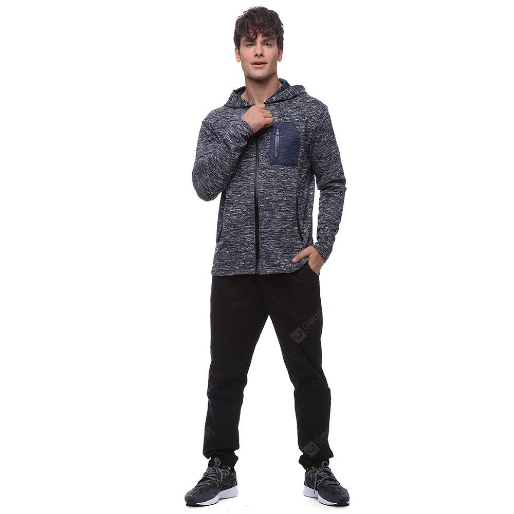 Men's high-quality open-chest sports hoodie