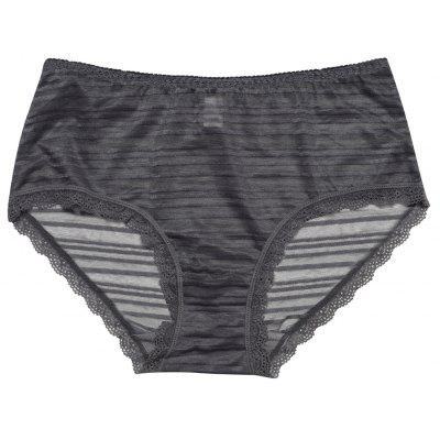 Women Lace Trim Sexy See Through Color Block Underwear Panty