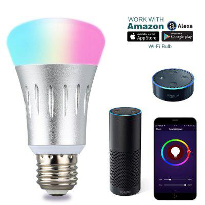 Image result for Excelvan WIFI Smart LED Bulb, Works with Amazon Alexa, E27 Dimmable Multicolored LED for iOS Android, App Control / Voice Control, Home Lighting