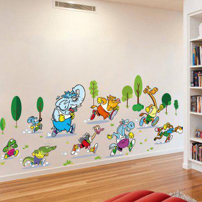 YEDUO Animals Running Wall Sticker Vinyl Diy Mural Home Decor Kids Room Decals