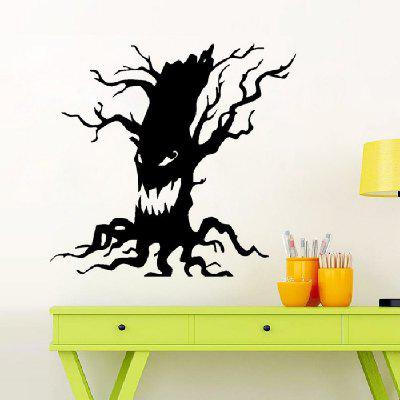 YEDUO Art Home Decoration Removable Wall Stickers Halloween Party Necessity Horrible Tree Ghost Living Room