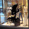 YEDUO Art Home Decoration Removable Wall Stickers Halloween Party Necessity Horrible Tree Ghost Living Room - BLACK