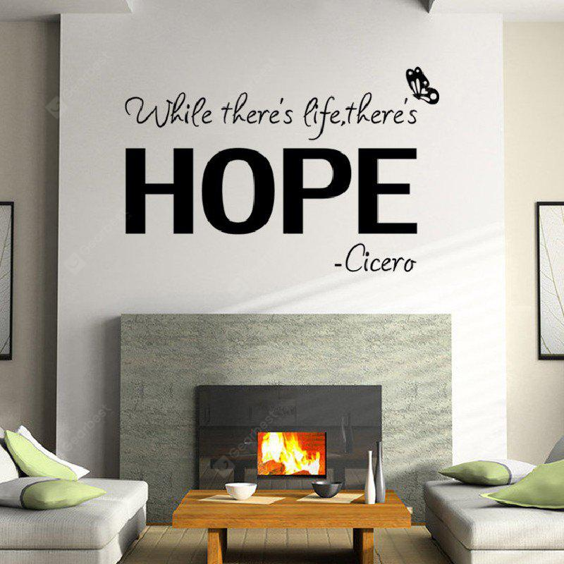 YEDUO Modern Wall Sticker Life Hope Art Quotes