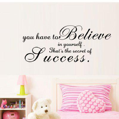 YEDUO Believe Home Decor Creative Decal Decorative Wall Sticker
