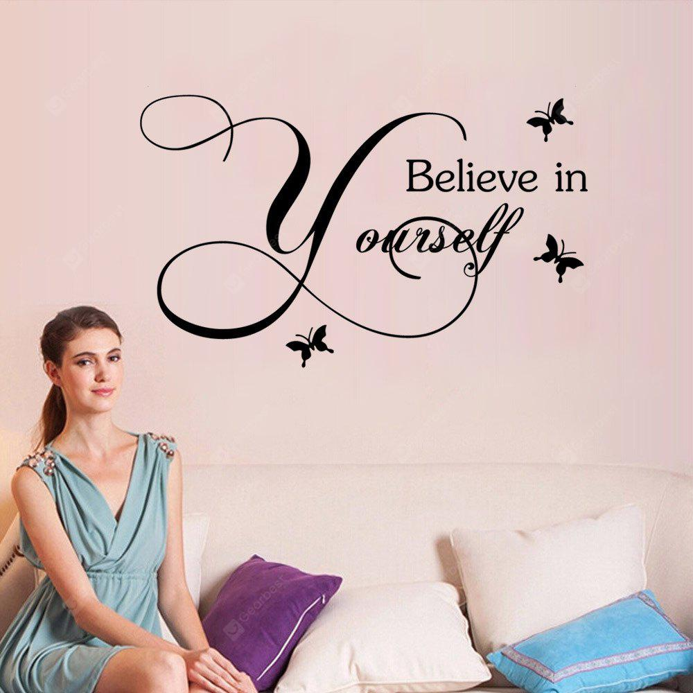 YEDUO Believe in Yourself Home Decor Creative Decal Removable Vinyl Wall Sticker