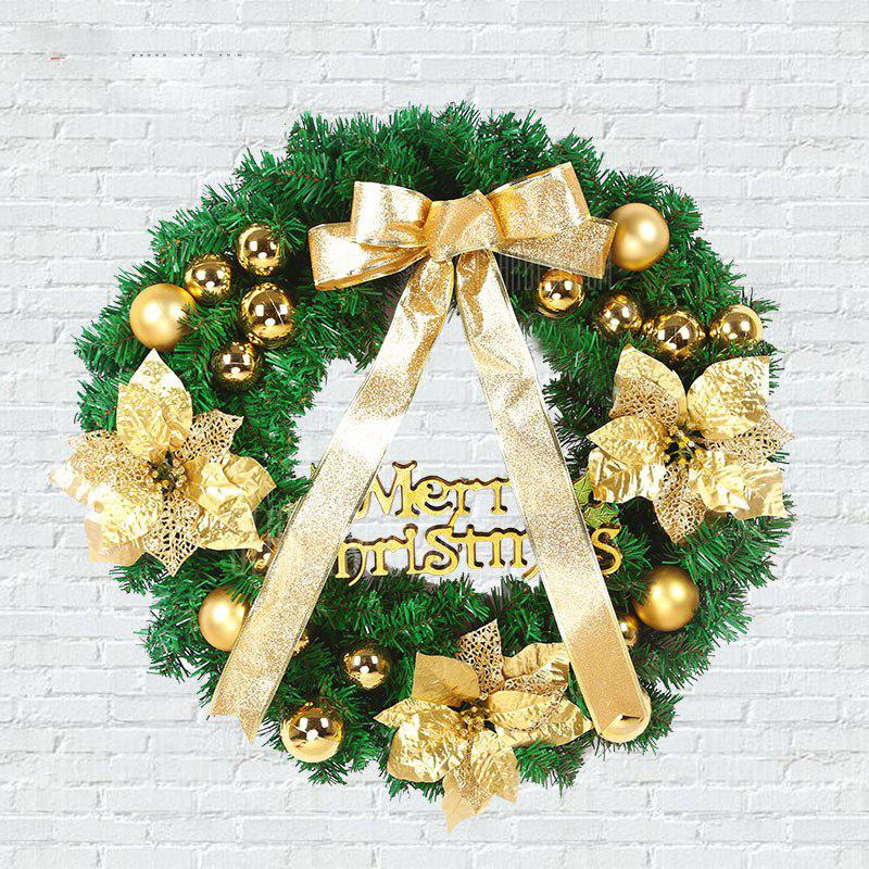 MCYH 1PC 40cm Christmas Wreath with Bow Door Drop Room Ornaments Decor
