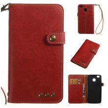 Wkae Crazy Horse Texture Retro PU Leather Case with Wallet Card Slots for Xiaomi 4X