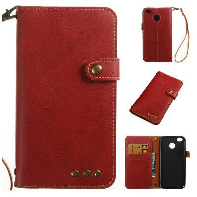 Wkae Crazy Horse Texture Vintage PU Leather Case with Wallet Card Slots for Xiaomi 4X