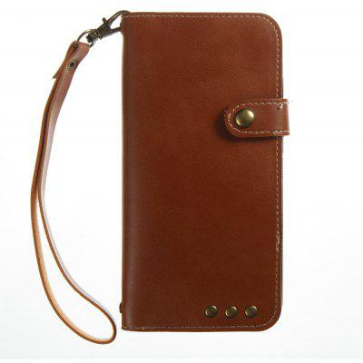 Buy BROWN Wkae Crazy Horse Texture Retro PU Leather Case with Wallet Card Slots for Xiaomi 6 for $8.41 in GearBest store