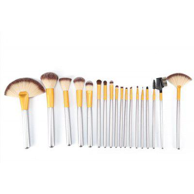 TODO 18pcs Professional Champagne Gold Makeup Brush Aluminium Handle