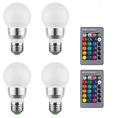 KWB LED Bulb Color Changing Lights Bulb with Remote Control (4-Pack)16 Different Color Choices