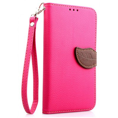 Love Leaf Card Lanyard Pu Leather para Samsung Note4
