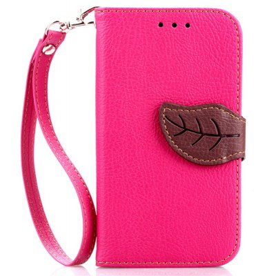 Love Leaf Card Lanyard Pu Leather para Samsung G357
