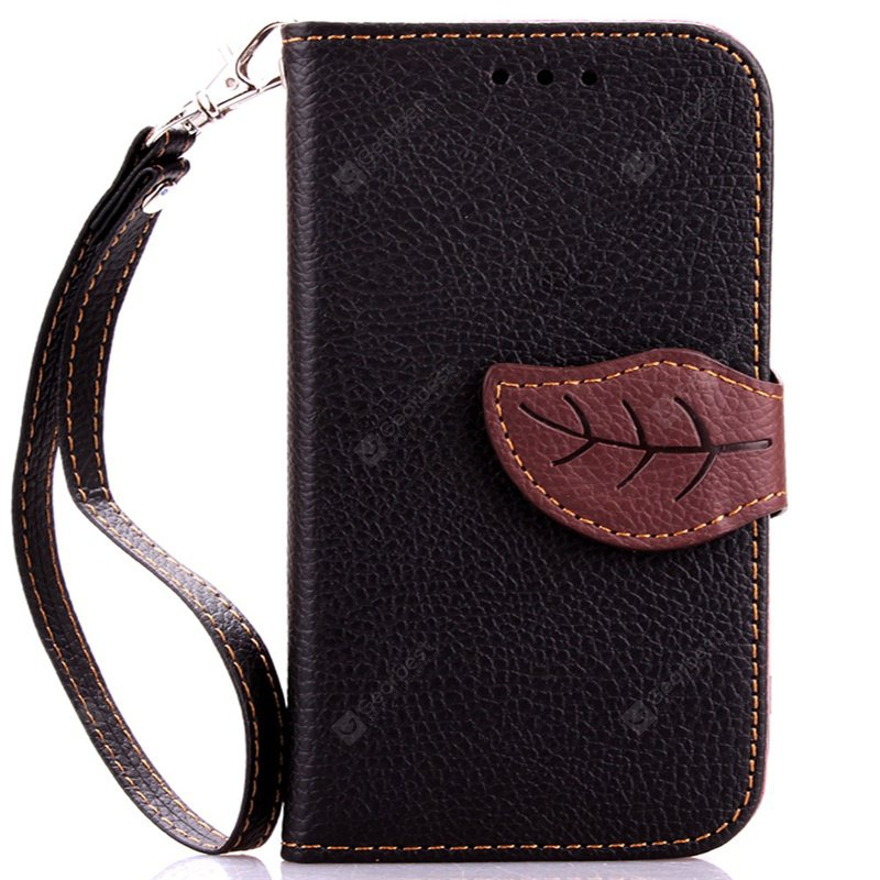 Love Leaf Card Lanyard Pu Leather for Samsung G357