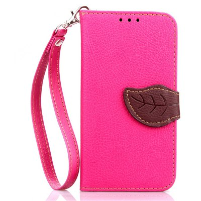 Love Leaf Card Lanyard Pu Leather para Samsung G360
