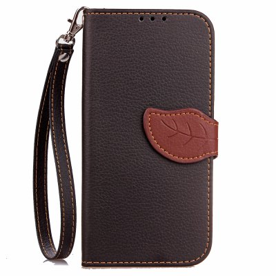 Buy BLACK Love Leaf Card Lanyard Pu Leather for Viko U Feel for $6.00 in GearBest store