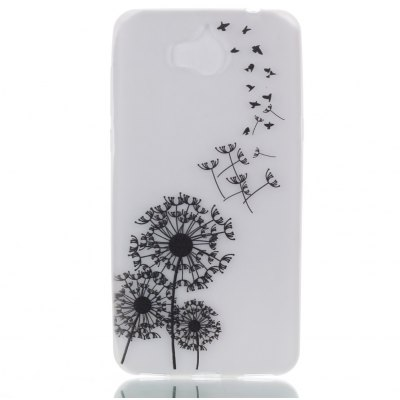 Wkae Dream Dandelion Colorful Pattern Noctilucent Soft Transparent Case for HUAWEI Y5 2017