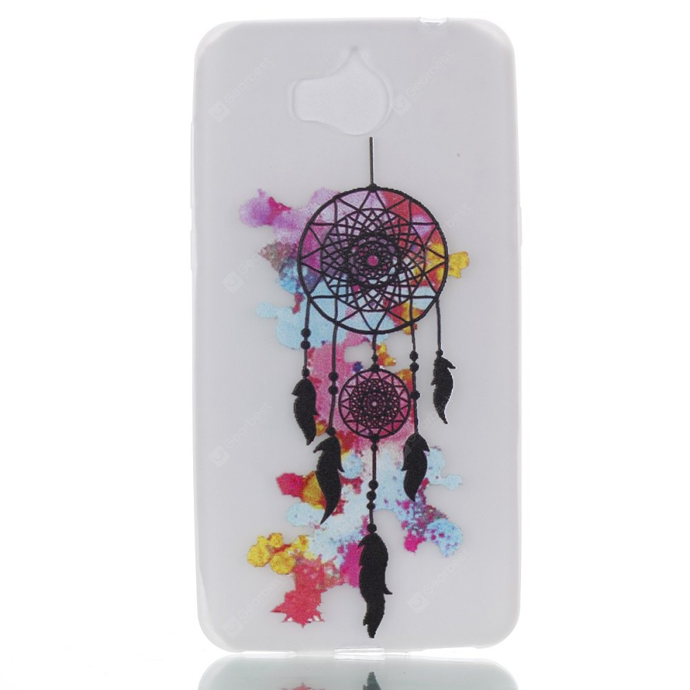 Wkae Colorful Wind Bell Pattern Noctilucent Soft Transparent Case for HUAWEI Y5 2017
