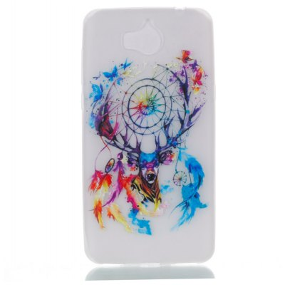 Wkae Colorful Deer Head Wind Bell Pattern Noctilucent Soft Transparent Case for HUAWEI Y5 2017