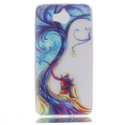 Wkae Couple Tree Colorful Pattern Noctilucent Soft Transparent Case for HUAWEI Y5 2017