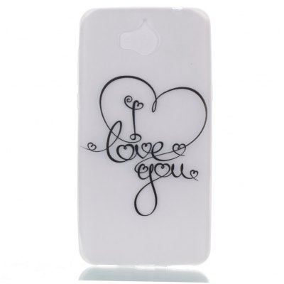 Wkae LOVE YOU Pattern Noctilucent Soft Transparent Case for HUAWEI Y5 2017