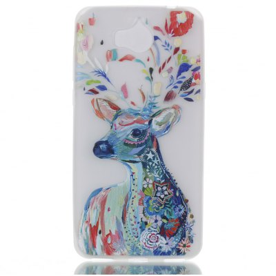 Wkae Watercolor Deer Colorful Pattern Noctilucent Soft Transparent Case for HUAWEI Y5 2017