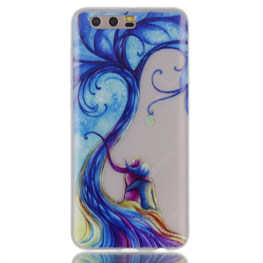 Wkae Couple Tree Colorful Pattern Noctilucent Soft Transparent Case for HUAWEI Honor 9