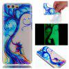 Wkae Couple Tree Colorful Pattern Noctilucent Soft Transparent Case for HUAWEI Honor 9 - COLORFUL