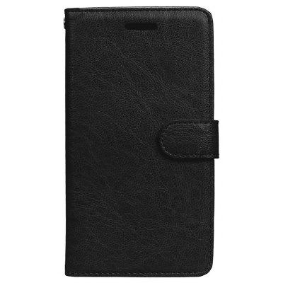 Wkae Solid Color PU Leather Flip Stand Case with Wallet and Three Card Slots for HUAWEI P8 Lite 2017