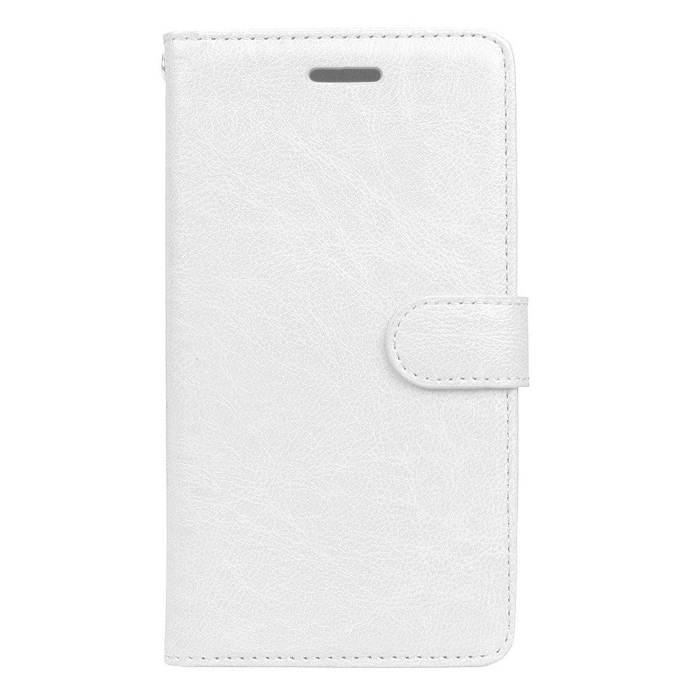 Wkae Solid Color PU Leather Flip Stand Case Wallet Three Card Slots HUAWEI P9 Lite 2017 WHITE