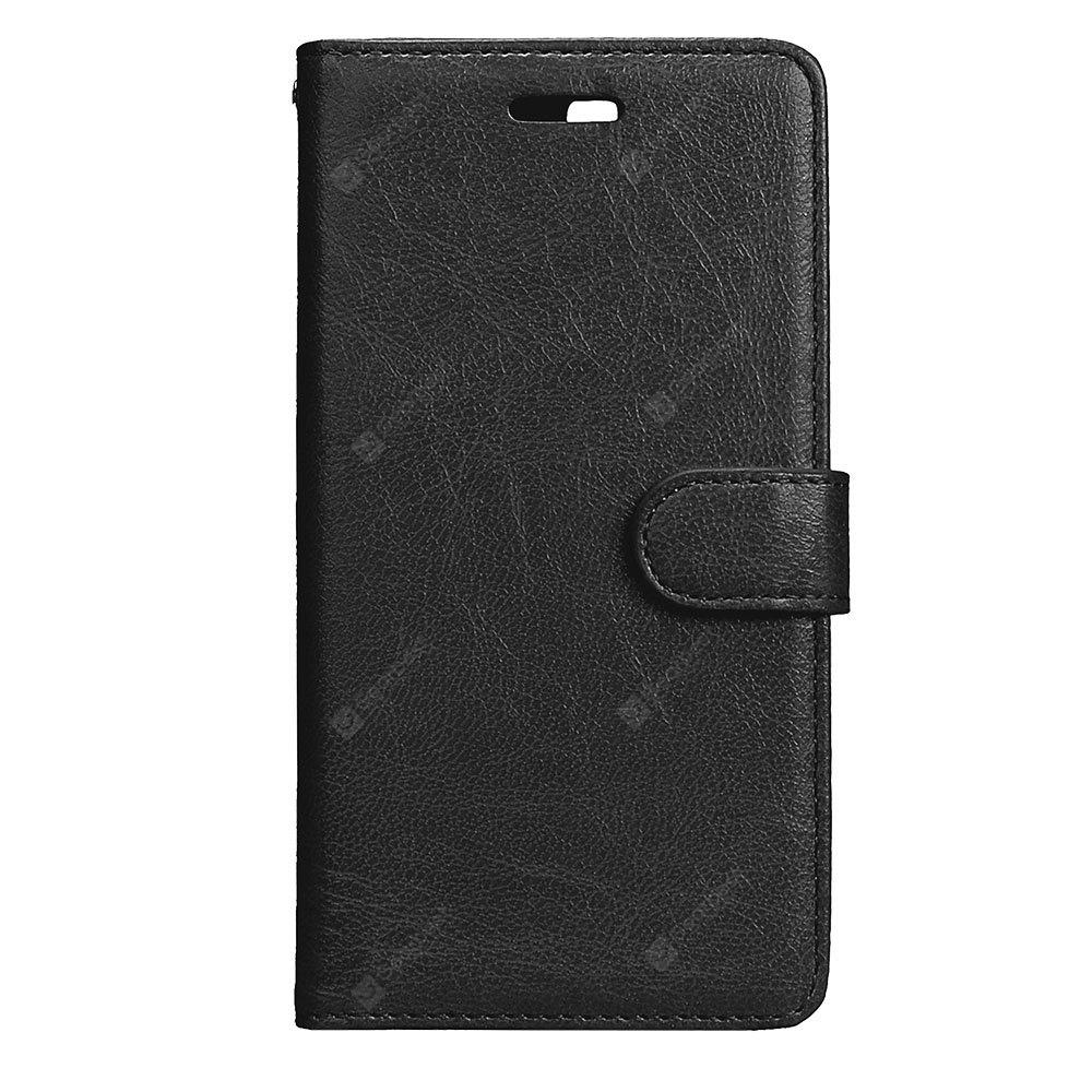 Wkae Solid Color PU Leather Flip Stand Case with Wallet and Three Card Slots for HUAWEI P10