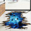 Home Decoration 3D Galaxy Planet Removable Wall Stickers for Decor - BLUE