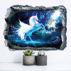 Buy Home Decoration 3D Unicorn Removable Wall Stickers Decor COLORMIX