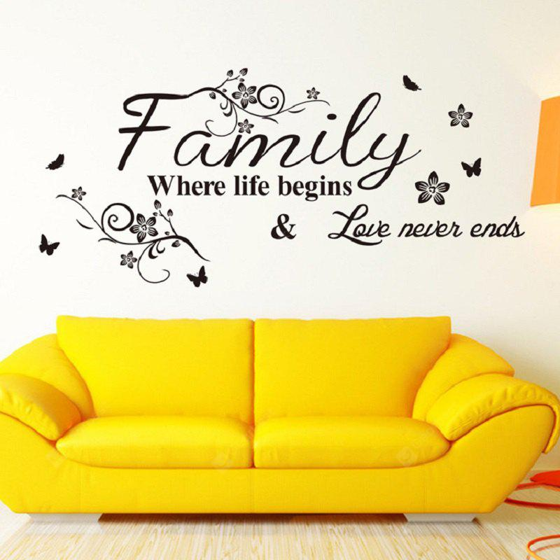 Familie Where Life Begins Love Never Ends 57 x 28 cm