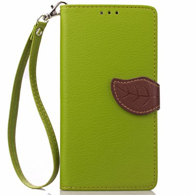 Buy GREEN Love Leaf Card Lanyard Pu Leather for OPPO R7S for $6.07 in GearBest store