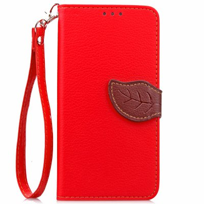 Buy RED Love Leaf Card Lanyard Pu Leather for OPPO R7S for $6.07 in GearBest store