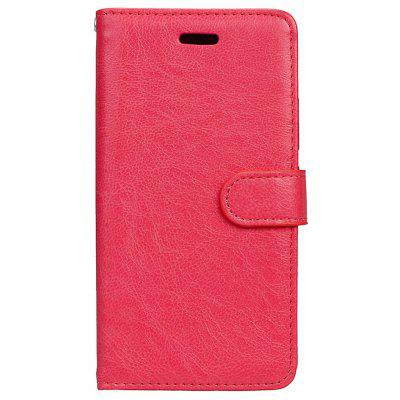 Buy RED Wkae Solid Color PU Leather Flip Stand Case with Wallet and Three Card Slots for Motorola MOTO G5 for $6.64 in GearBest store