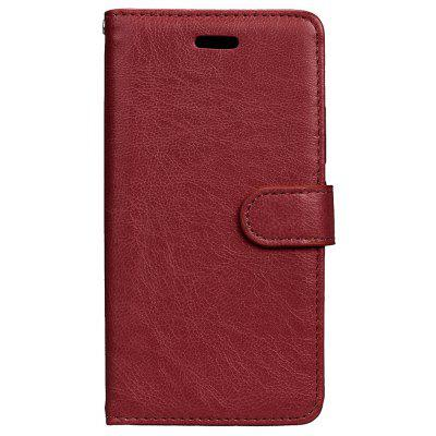 Buy BROWN Wkae Solid Color PU Leather Flip Stand Case with Wallet and Three Card Slots for Motorola MOTO G5 for $6.64 in GearBest store