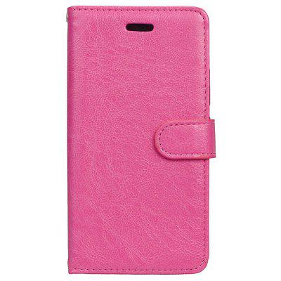 Buy ROSE RED Wkae Solid Color PU Leather Flip Stand Case with Wallet and Three Card Slots for Motorola MOTO G5 for $6.64 in GearBest store