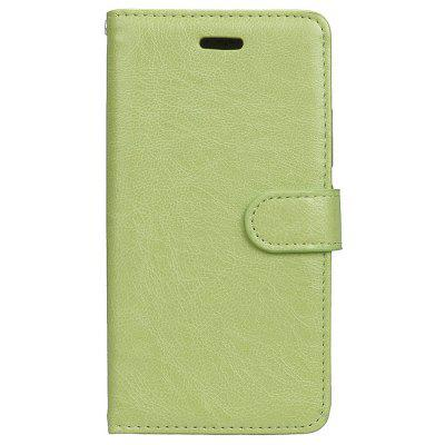 Buy GREEN Wkae Solid Color PU Leather Flip Stand Case with Wallet and Three Card Slots for Motorola MOTO G5 for $6.64 in GearBest store