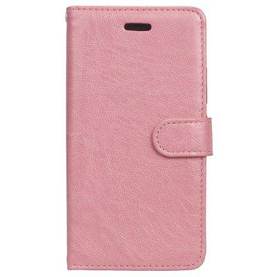 Buy PINK Wkae Solid Color PU Leather Flip Stand Case with Wallet and Three Card Slots for Motorola MOTO G5 for $6.64 in GearBest store