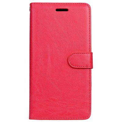 Buy RED Wkae Solid Color PU Leather Flip Stand Case with Wallet and Three Card Slots for Motorola MOTO M for $6.64 in GearBest store