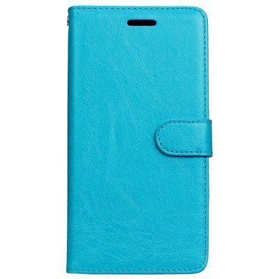 Buy BLUE Wkae Solid Color PU Leather Flip Stand Case with Wallet and Three Card Slots for Motorola MOTO M for $6.64 in GearBest store