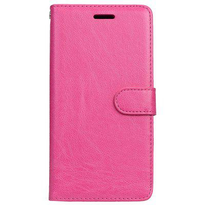 Buy ROSE RED Wkae Solid Color PU Leather Flip Stand Case with Wallet and Three Card Slots for Motorola MOTO M for $6.64 in GearBest store