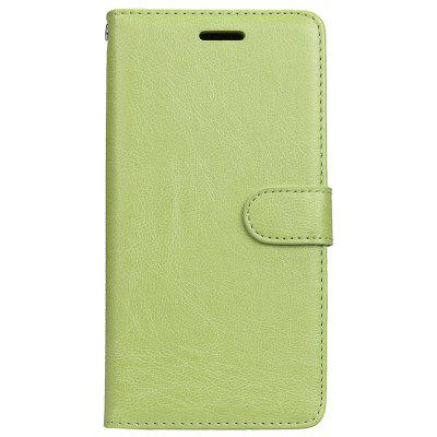 Buy GREEN Wkae Solid Color PU Leather Flip Stand Case with Wallet and Three Card Slots for Motorola MOTO M for $6.64 in GearBest store