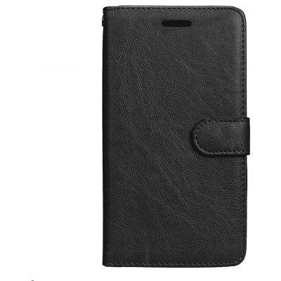 Buy BLACK Wkae Solid Color PU Leather Flip Stand Case with Wallet and Three Card Slots for Motorola MOTO G5 Plus for $5.28 in GearBest store
