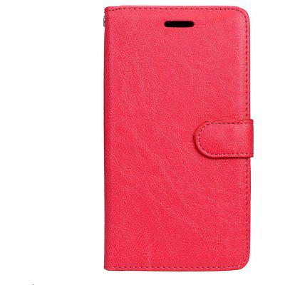 Buy RED Wkae Solid Color PU Leather Flip Stand Case with Wallet and Three Card Slots for Motorola MOTO G5 Plus for $5.28 in GearBest store